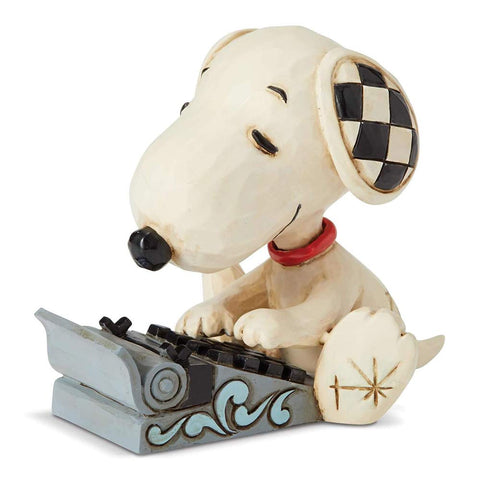 Enesco Jim Shore Snoopy Typing Mini