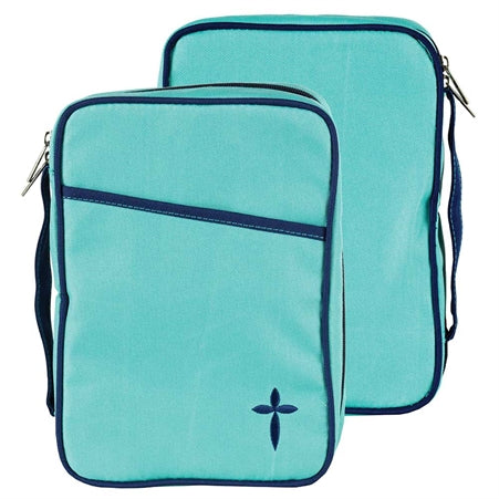 Dicksons Turquoise Denier Polyester Canvas Large Print Bible Cover