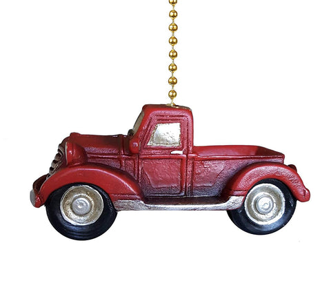 Clementine 378 Old Red Pickup Truck Fan Pull