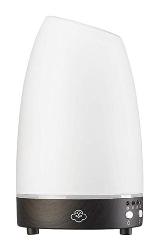 Serene House 161201023 Ultrasonic Aroma Diffuser Astro White Glass Dark Wood