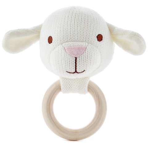 Hallmark Soft Lamb Baby Rattle and Teether
