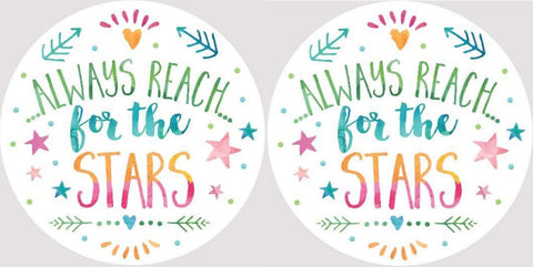 Clementine 4055 Always Reach for the Stars Car Coasters Set of 2