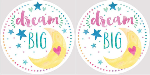 Clementine 4057 Dream Big Moon and Stars Car Coasters Set of 2
