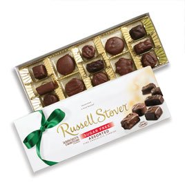 Russell Stover 6903AV Sugar Free Chocolate Candy Assortment, 8.25 oz. Box
