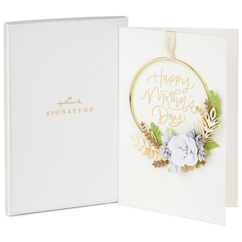 Hallmark Grateful for You Mother's Day Card With Removable Wreath in Gift Box
