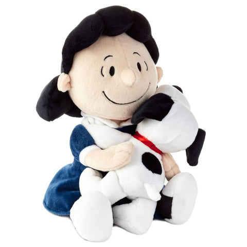 Hallmark Peanuts Lucy and Snoopy Hugging Stuffed Animal