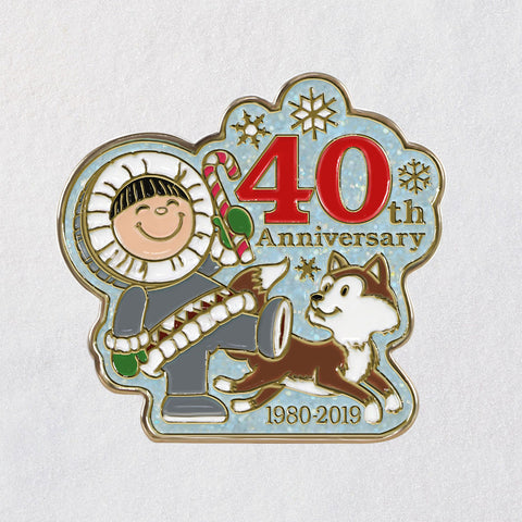 Hallmark Keepsake 2019 40 Years of Frosty Friends Collectible Enamel Pin