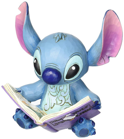 "Enesco 4048658 Disney Traditions by Jim Shore ""Lilo and Stitch"" Stitch with a Storybook Stone Resin"
