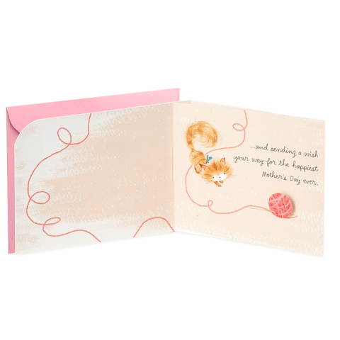 Hallmark Thinking of You Cat and Flowers Mother's Day Card