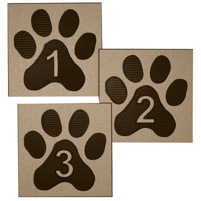 "5"" x 5"" Paw Room Identification Sign"
