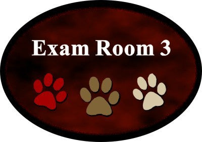 "3"" x 5"" Oval Full Color Room Identification Sign"