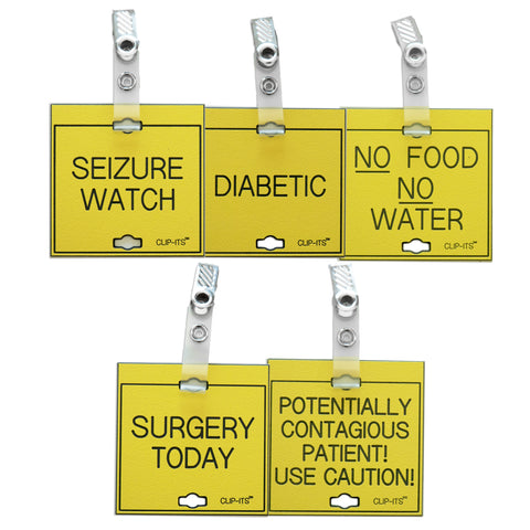Variety Pack - Caution, Diagnostic Conditions Requiring Special Attention Clip-Its™ (pack of 6)