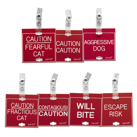 Variety Pack - Warning, Safety Issues Clip-Its™ (pack of 8)
