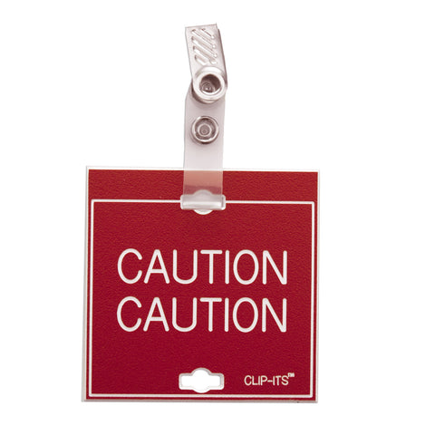 Caution Caution Clip-Its™ (pack of 6)