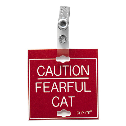 Caution Fearful Cat Clip-Its™ (pack of 6)