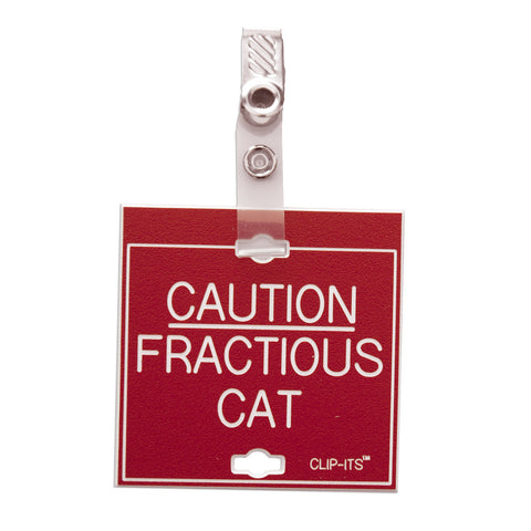 Caution Fractious Cat Clip-Its™ (pack of 6)