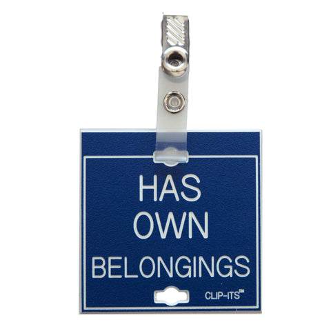 Has Own Belongings Clip-Its™ (pack of 6)