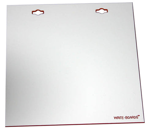 6x6 Write-Boards™ White 2 Hole