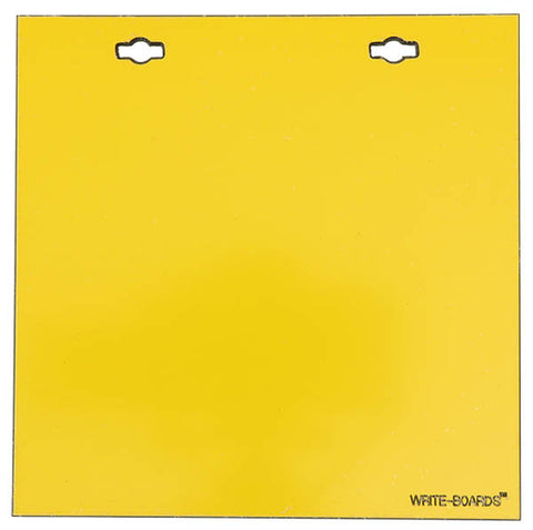 6x6 Write-Boards™ Yellow 2 Hole