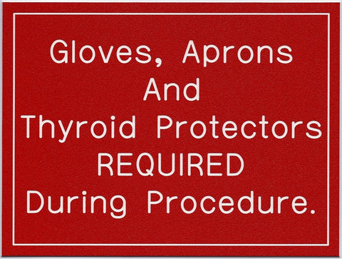 Gloves, Aprons and Thyroid Protectors...