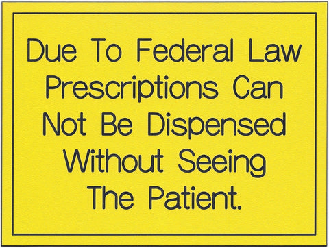Due To Federal Law Prescriptions...