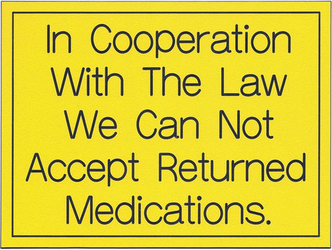 Can Not Accept Returned Medications
