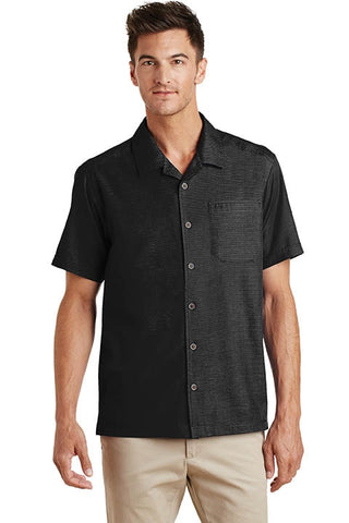 Textured Camp Shirt - Mens