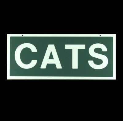 "Cats Sign 6"" H x 14"" W"