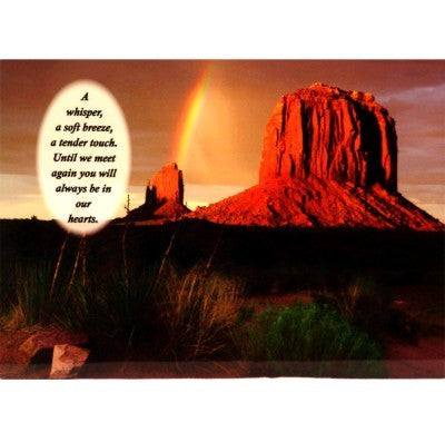 """Quiet Moments Desert Sunset"" Personalized Full Color Plaque"