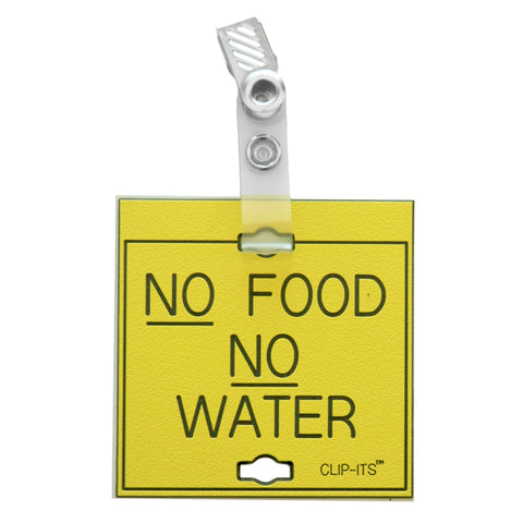 No Food No Water Clip-Its™ (pack of 6)