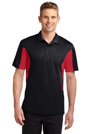 Color Block Wicking Polo - Mens