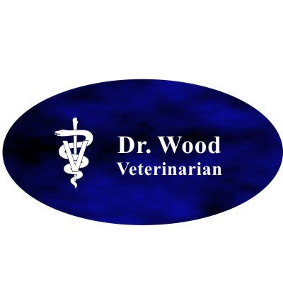 Full Color Sublimated Veterinary Name Badge