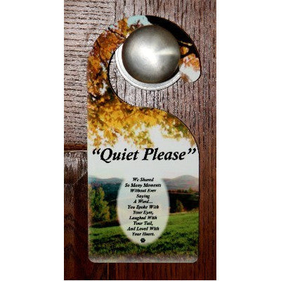"""Quiet Moments In A Field"" Door Hanger With Saying"