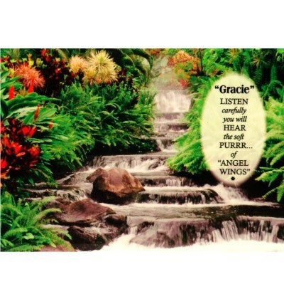 """Quiet Moments Waterfall"" Personalized Full Color Plaque"