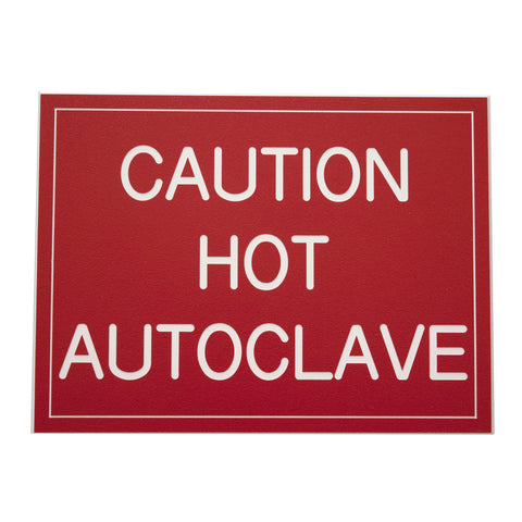Caution Hot Autoclave