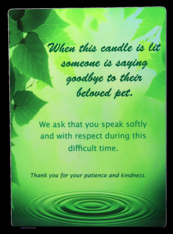 """When This Candle..."" Full Color Plaque"