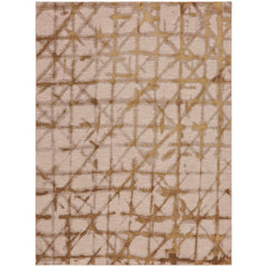 Enigma Contact Brushed Gold Rug - Karastan