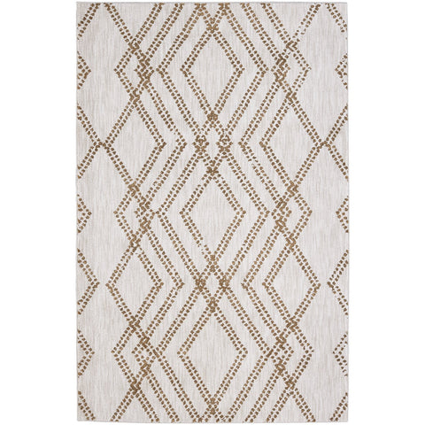 Cosmopolitan French Affair Brushed Gold Rug - Karastan
