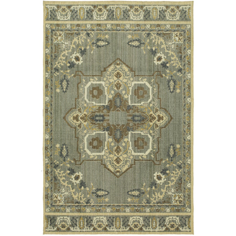 Vintage Tapis Left Bank Grey Rug - Karastan