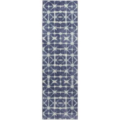Expressions Triangle Accordion Indigo Rug - Karastan