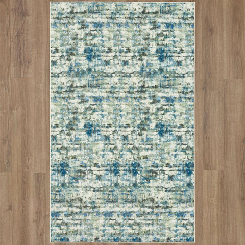 Evolution Atlas ZC006 A439 Serge Blue Rug - Karastan