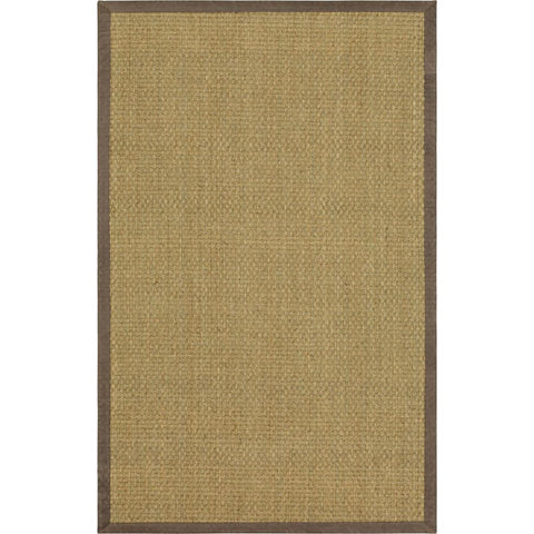 Modern Classics-Basketweave Sisal BS200 56 Leather Border Seagrass Rug - Karastan