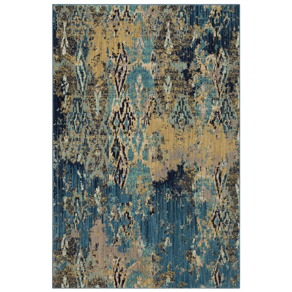 Elements Captivate 91104 50102 Serge Indigo Rug - Karastan