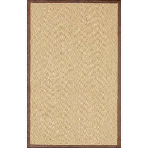 Modern Classics-Wool Sisal Berber BS300 102 Leather Border Natural Rug - Karastan