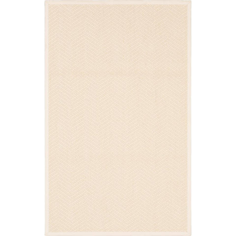 Modern Classics-Wool Sisal Berber BS300 101 Canvas Border Snow White Rug - Karastan