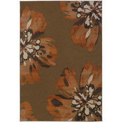 ADRIENNE 4130C Brown, Orange Rug - Oriental Weavers