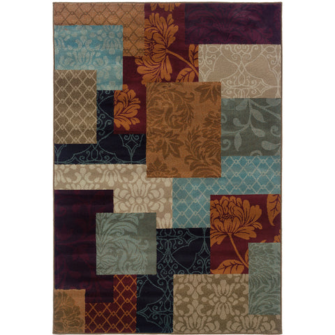 ADRIENNE 4198A Rust, Purple Rug - Oriental Weavers