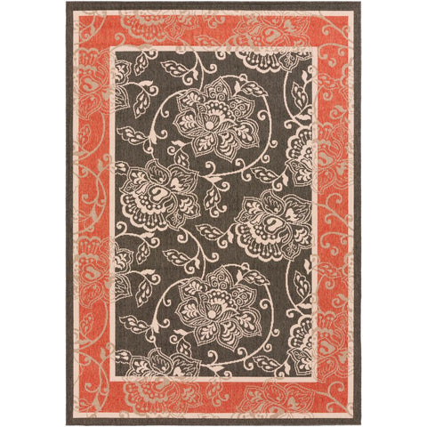 Alfresco Black, Rust Rug - Surya (ALF-9592)