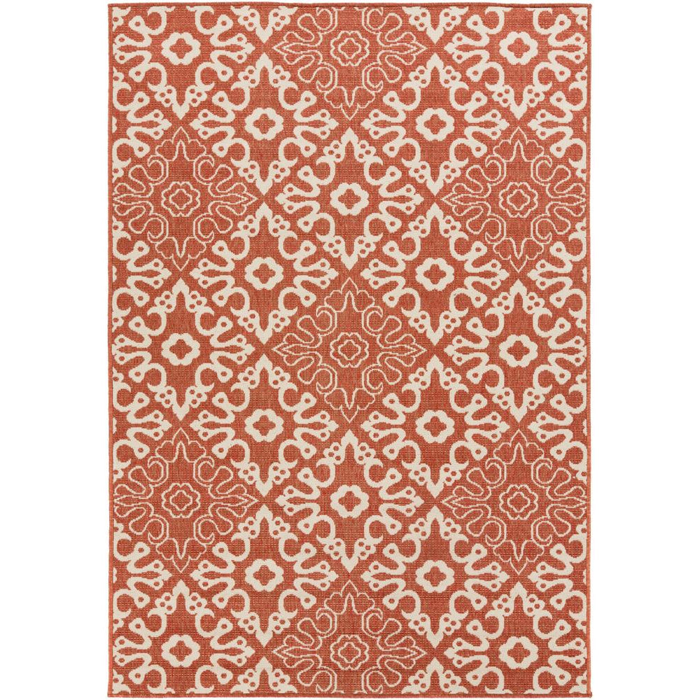 Alfresco Rust, Cream Rug - Surya (ALF-9636)