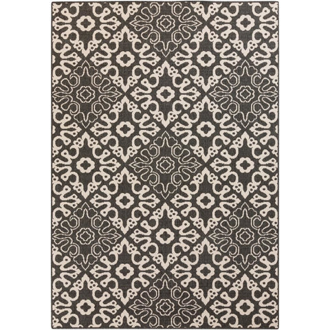 Alfresco Black, Cream Rug - Surya (ALF-9637)